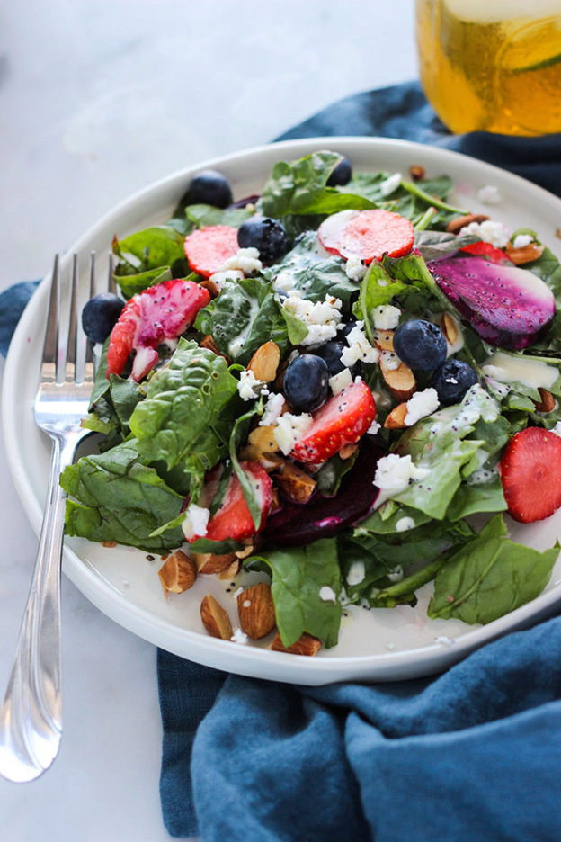 Beet and Berry Salad with Poppyseed Dressing