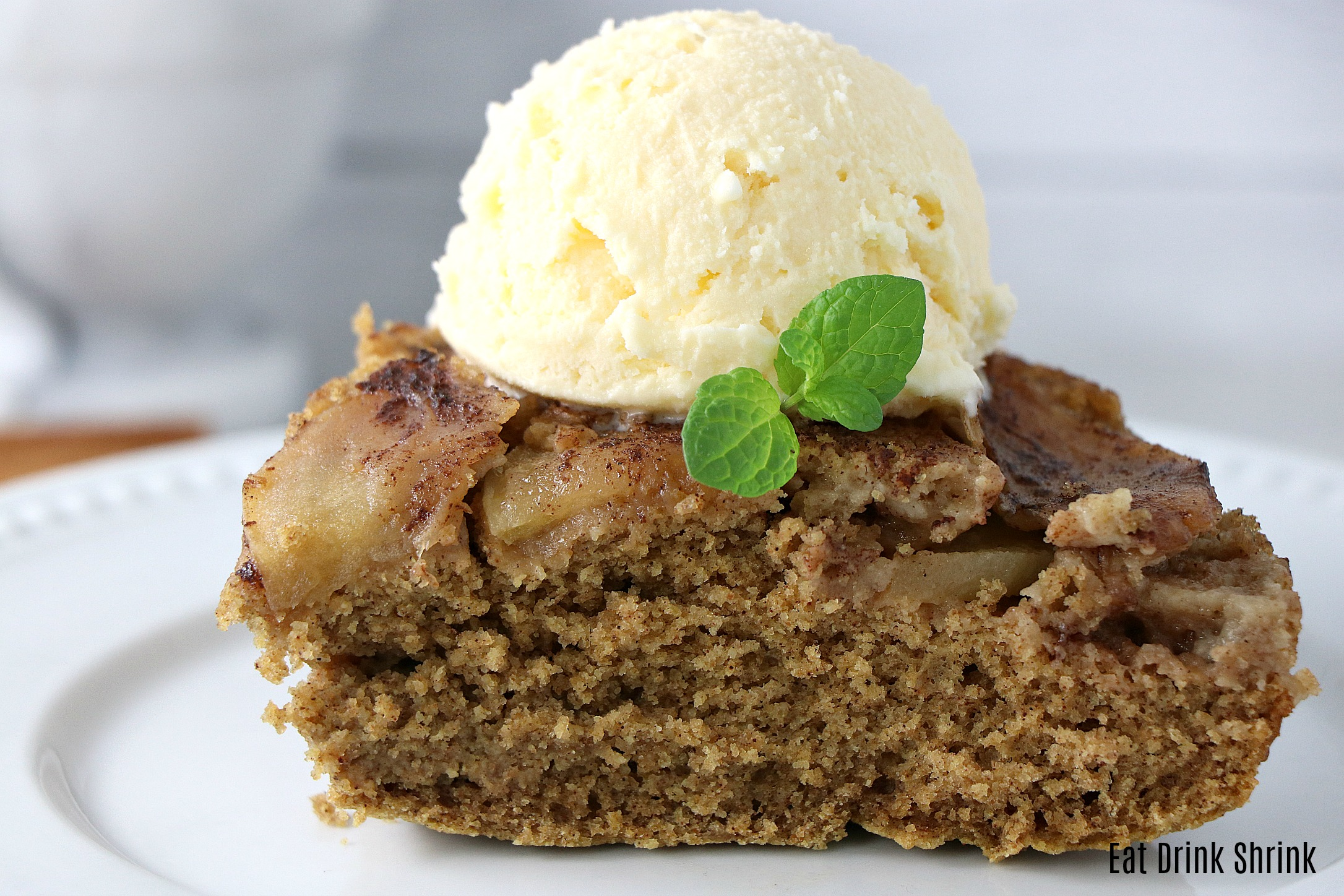 Vegan Cinnamon Apple Upside Down Cake